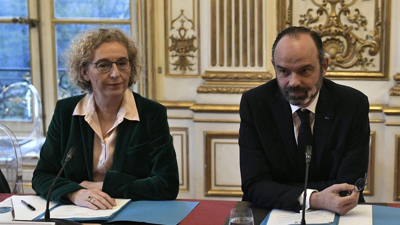 La ministre du Travail, Muriel Pénicaud, et le Premier ministre, Edouard Philippe.