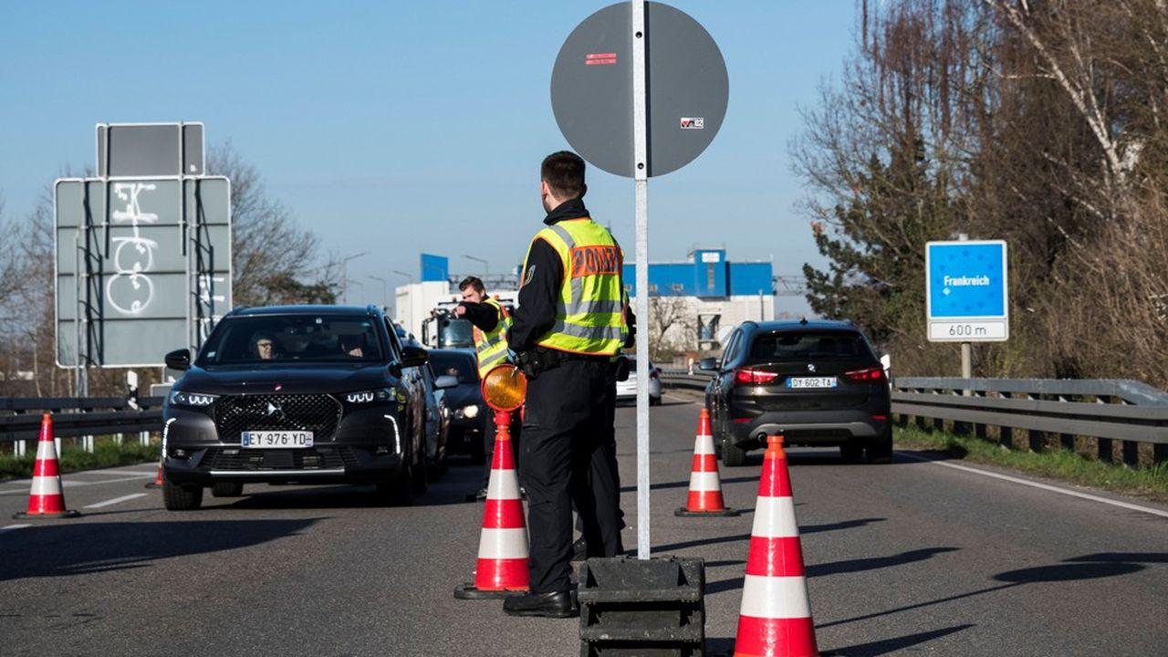Des contrôles à la frontière entre l'Allemagne et la France