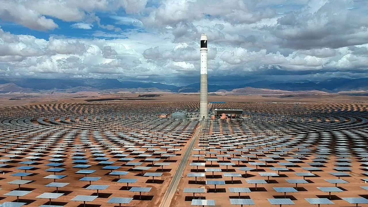 La méga-centrale solaire à concentration de Ouarzazate, au Maroc, bénéficie de la technique de Reuniwatt.