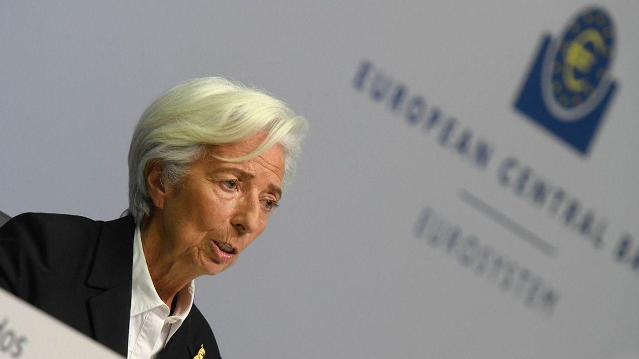 Christine Lagarde, la présidente de la Banque centrale européenne (BCE).