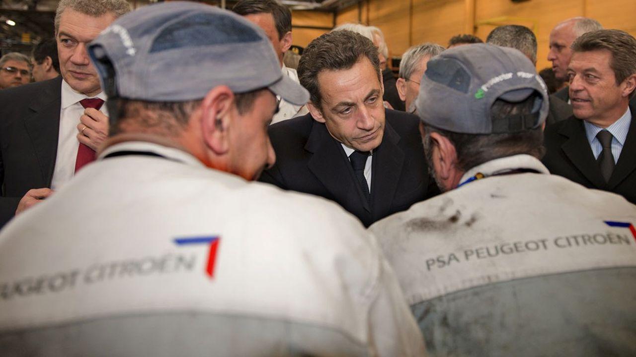 Face à la chute des ventes automobiles fin 2008, Nicolas Sarkozy avait débloqué quelque 8milliards d'euros pour sauver la filière tricolore.