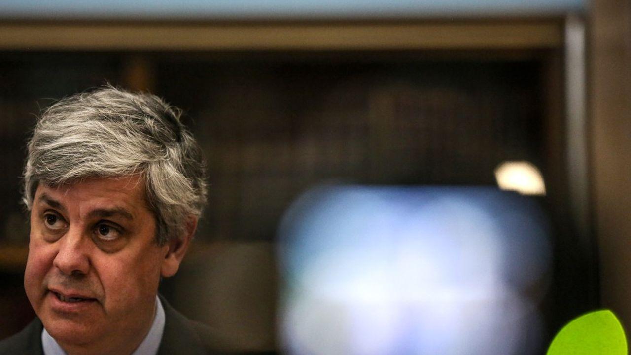 Mario Centeno, le ministre portugais des Finances, préside l'Eurogroupe.