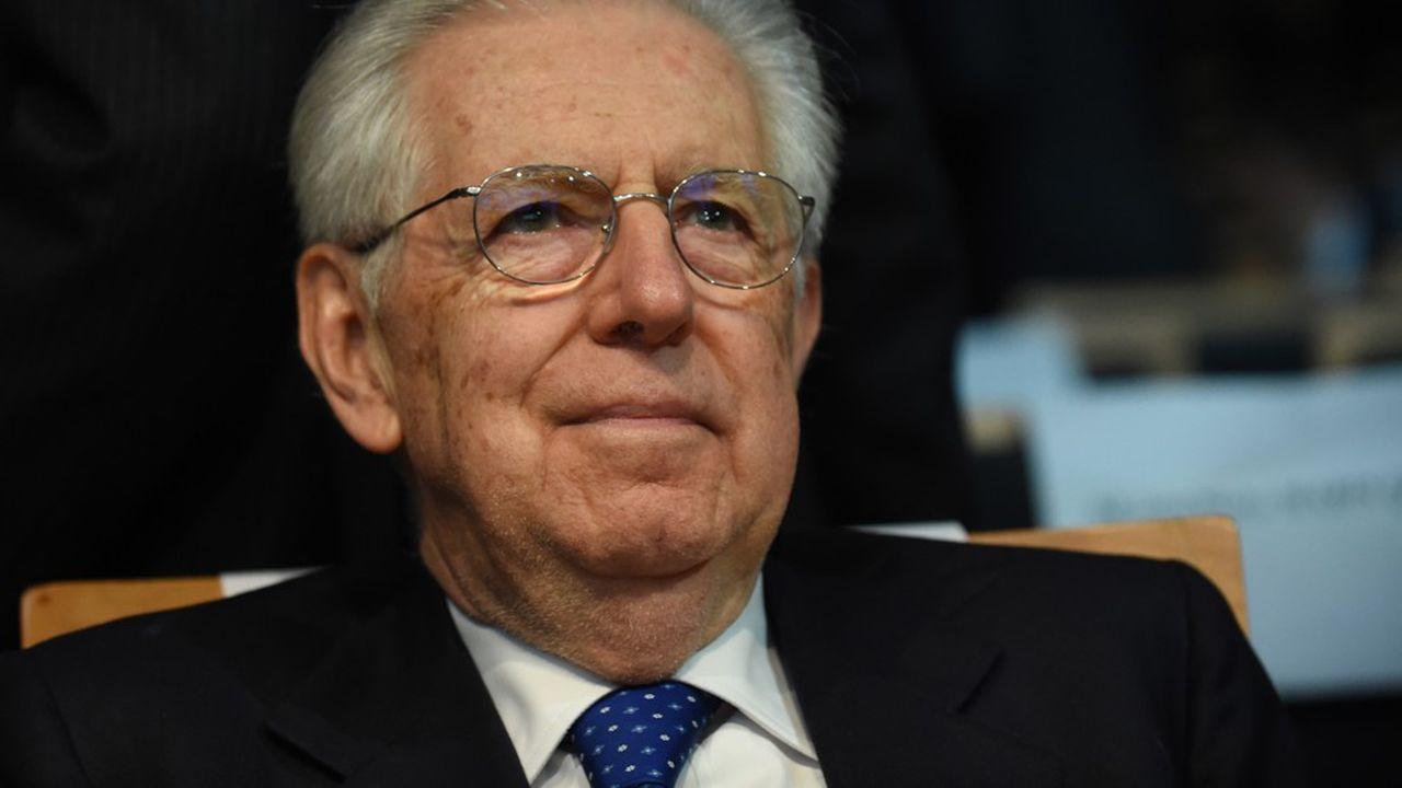 Mario Monti est un économiste, universitaire et homme d'Etat italien. Il participe ici au dixième anniversaire de l'Autorité de la concurrence, à Paris, le 5mars 2019.