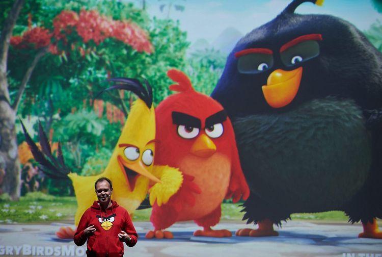 Le triomphe du jeu sur mobile Angry Birds a poussé Peter Vesterbacka sur le devant de la scène, comme ici en Pologne pour une conférence InfoShare en 2015.
