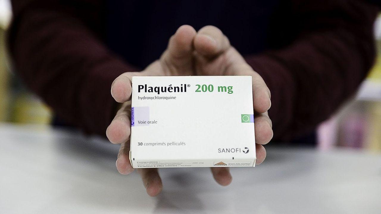 Une boîte de médicaments contenant l'hydrochloroquine, une molécule porteuse d'espoir dans la lutte contre le coronavirus mais qui, pour l'heure, ne fait pas consensus chez les scientifiques.