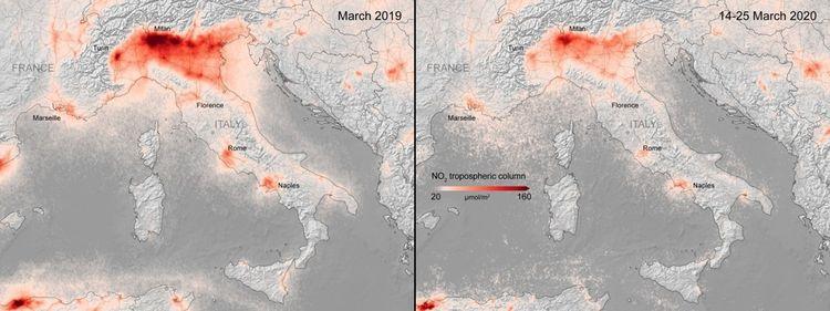 Baisse de la pollution en Italie