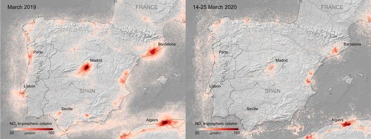 Baisse de la pollution en Espagne.