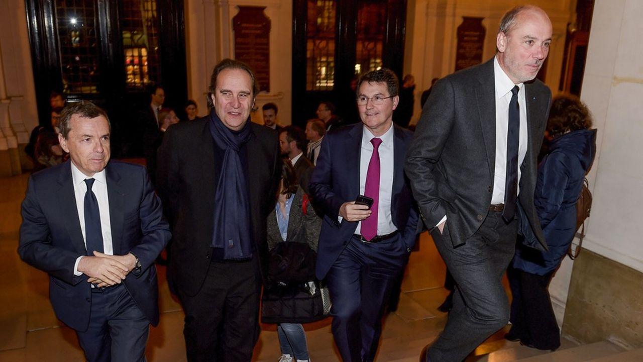 Les patrons de SFR (Alain Weill), Free (Xavier Niel), Bouygues Telecom (Olivier Roussat) et Orange (Stéphane Richard) n'ont pas la même réaction face à la crise.