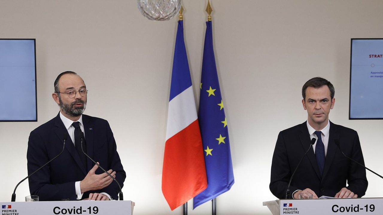 Edouard Philippe et Olivier Véran s'expriment ce samedi après-midi.
