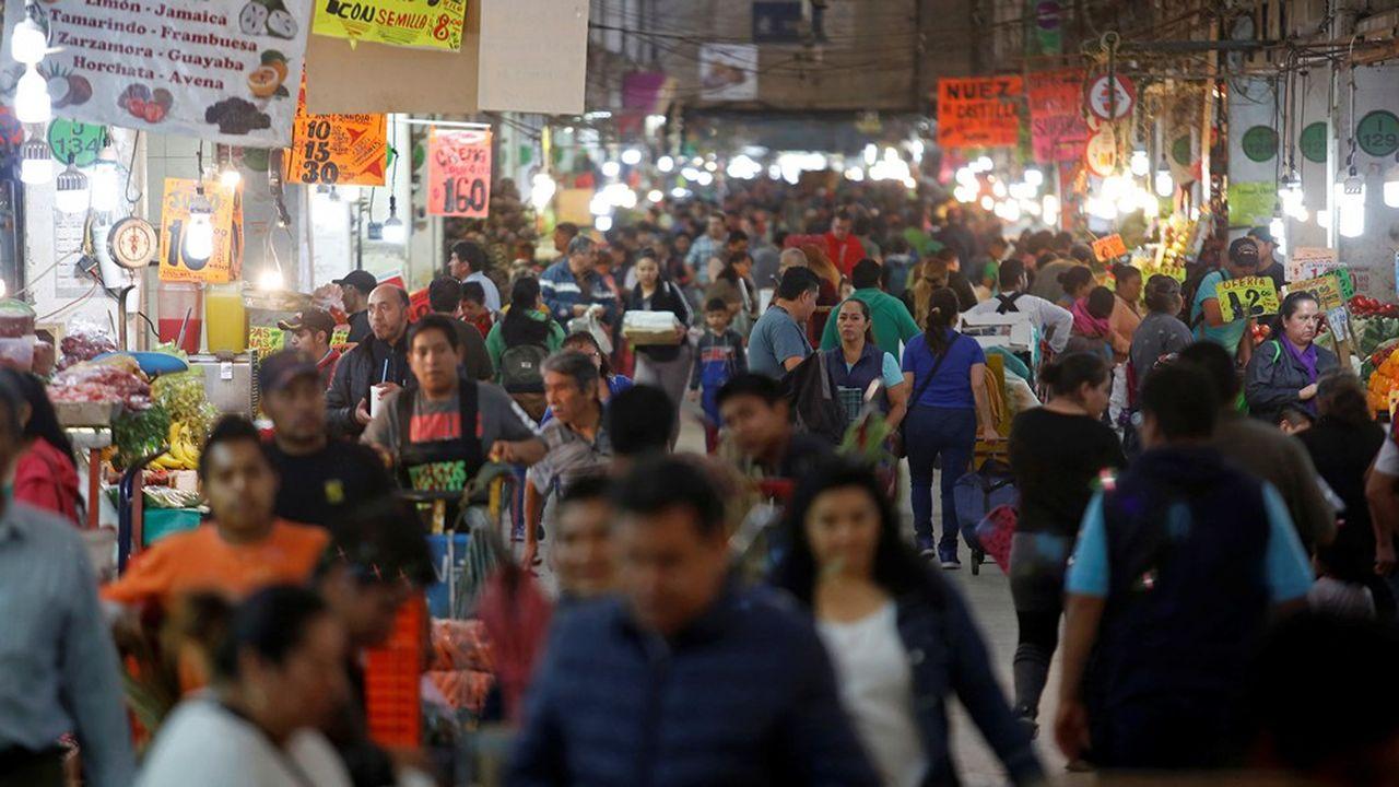 Le marché central d'Abastos à Mexico le 19mars dernier, alors que le pays enregistrait son premier mort du coronavirus.