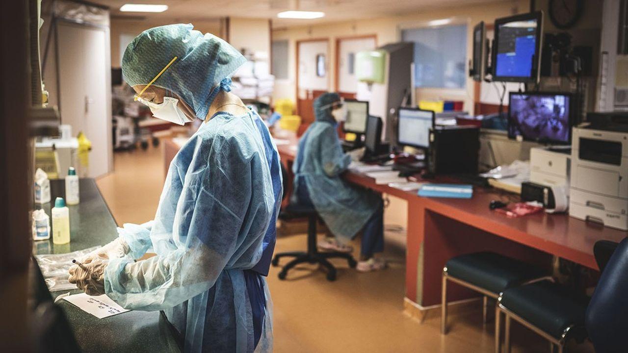 A plein régime, Discovery concernera, dans notre pays, plus d'une vingtaine de services de réanimation (ici dans un hôpital du sud de la France, en mars2020).
