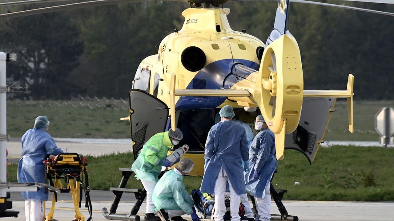 La majorité des patients déjà transférés sont originaires du Grand Est, soit 232 malades.