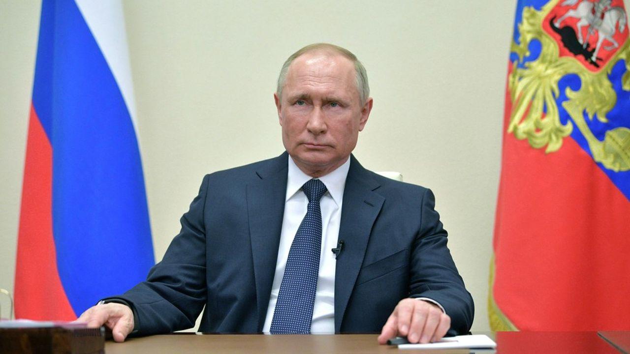 Le président russe Vladimir Poutine s'est adressé le 2avril à la nation depuis la résidence d'Etat de Novo-Ogaryovo, à l'extérieur de Moscou.