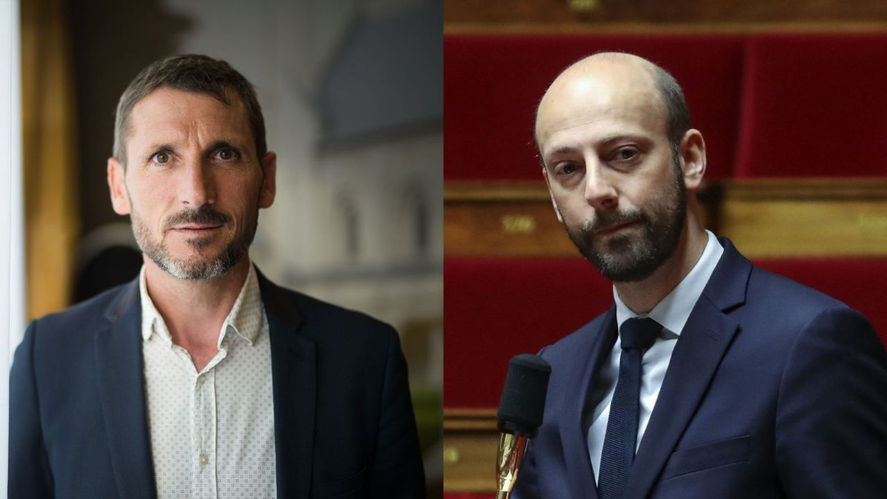 Matthieu Orphelin (à gauche, ex-LREM) va lancer une plateforme avec une soixantaine de députés. Stanislas Guerini entend lui aussi sonder les adhérents du mouvement présidentiel