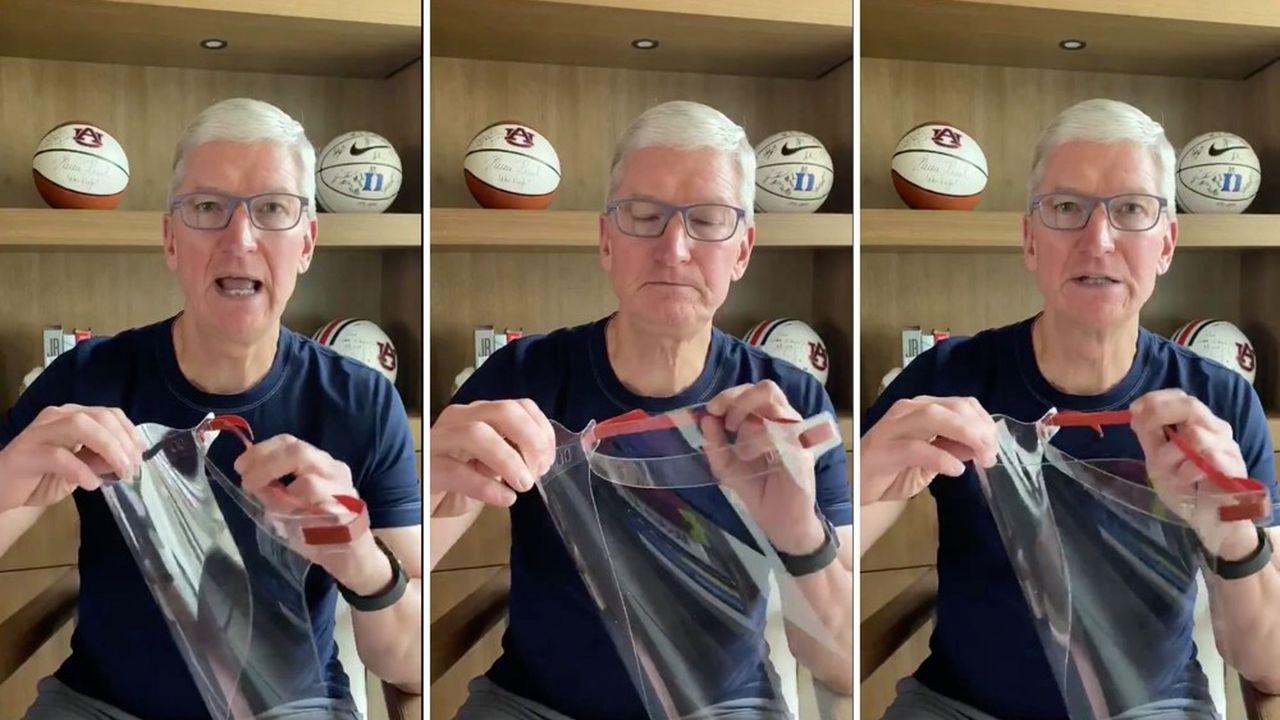 Une première livraison des masques fabriqués par Apple a été effectuée la semaine dernière dans un hôpital de Californie.