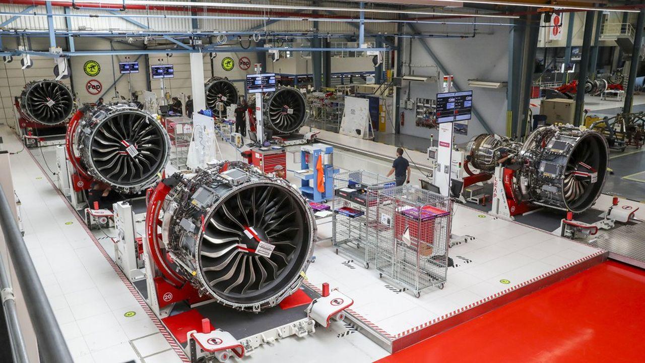 Moteurs d'Airbus A320neo à l'assemblage.