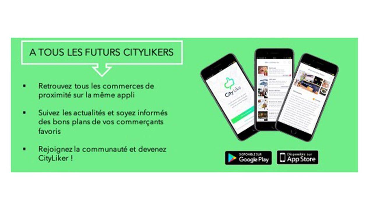 L'application City-like propose aux commerçants de gagner en visibilité via leur référencement