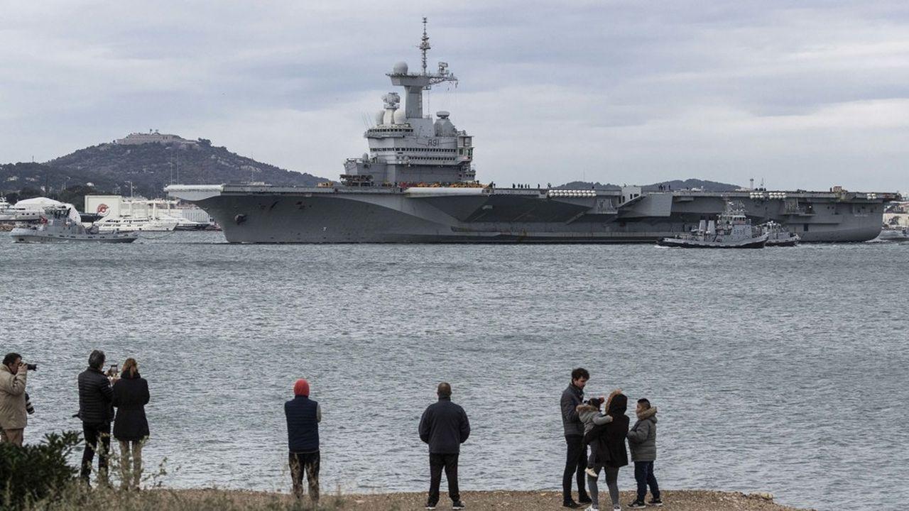 Le porte-avions parti le 21janvier pour près de quatre mois de mission, sera de retour à Toulon la semaine prochaine.