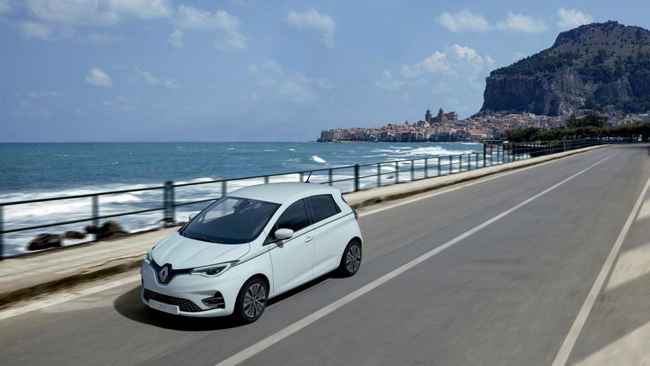 La Renault Zoe, toujours en tête des ventes de véhicules électriques.