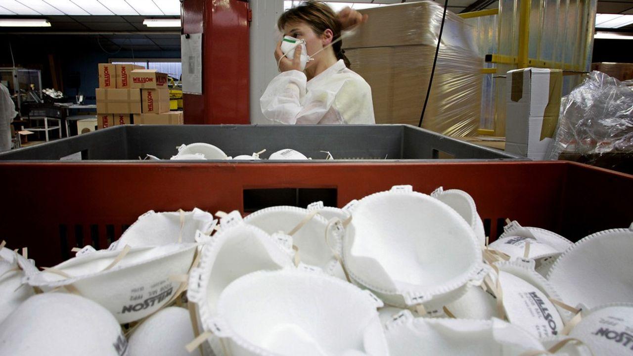 L'usine de Plaintel, en septembre2005, année où son propriétaire d'alors avait investi pour répondre à la forte demande de l'Etat en masques.