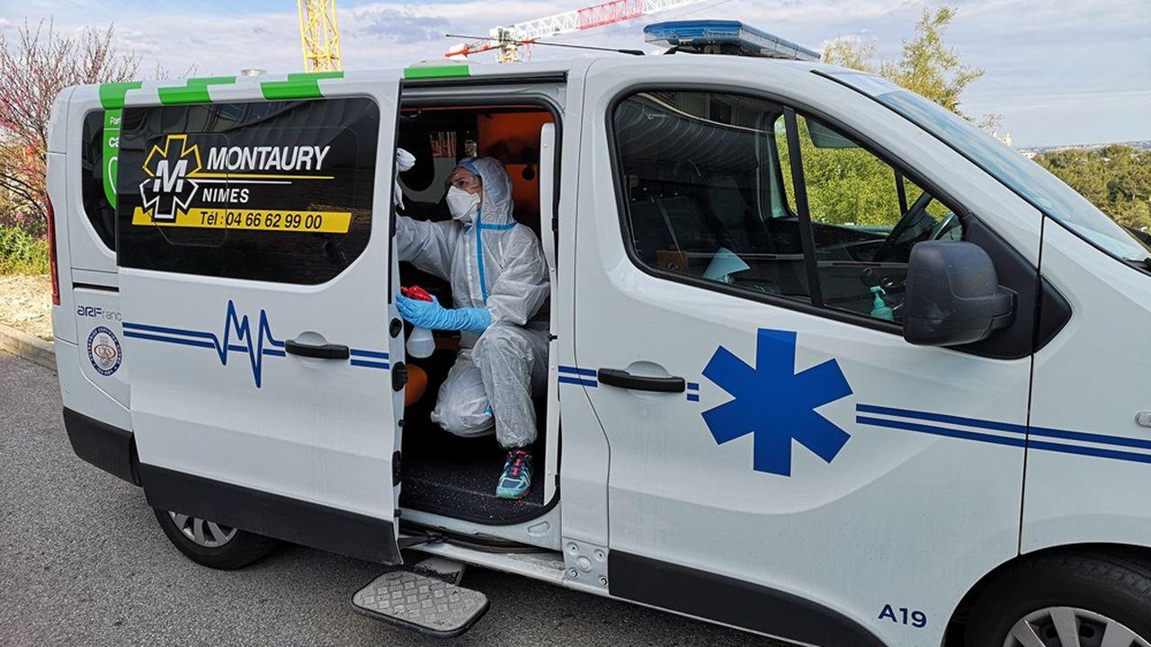 Montaury Ambulances à Nîmes (Gard) compte 3 ambulances et véhicules sanitaires légers.