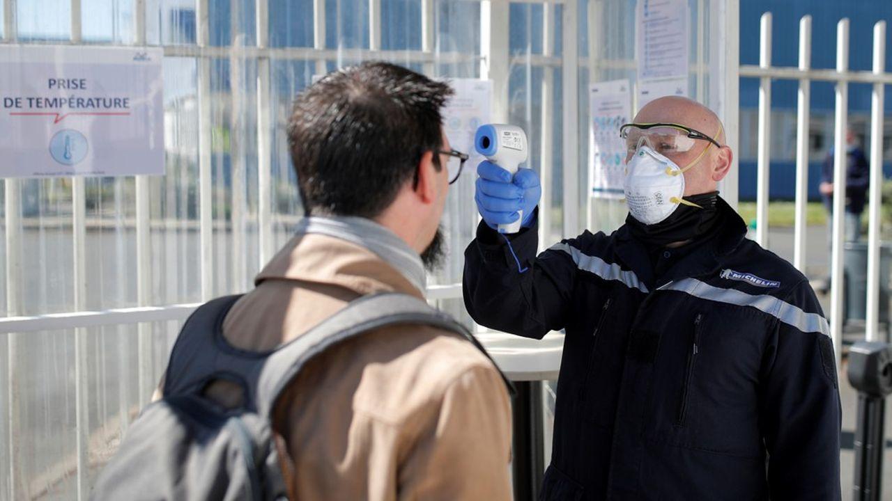 A l'entrée de l'usine Michelin de Cholet, le 14 avril dernier.