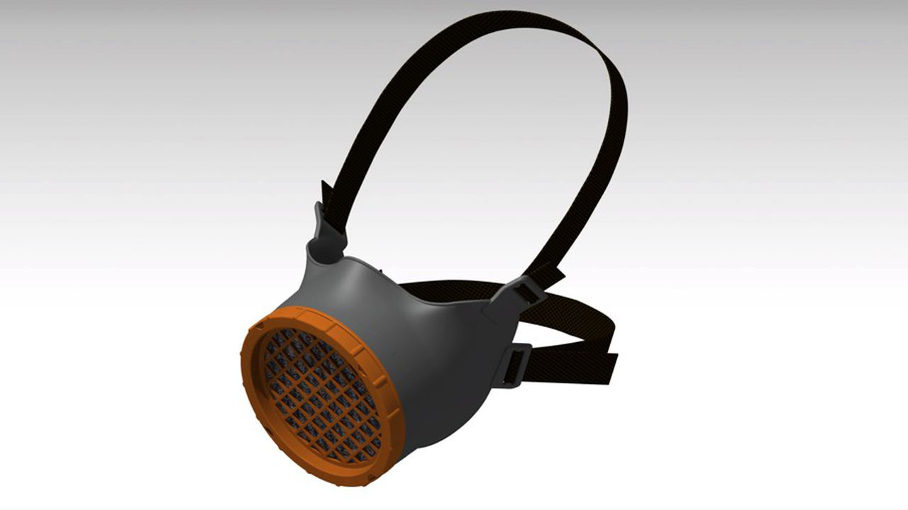 Conçu chez Michelin et testé sur les bancs d'essai du CEA, qui en a réalisé les prototypes, le masque réutilisable Ocov sera produit par Ouvry.