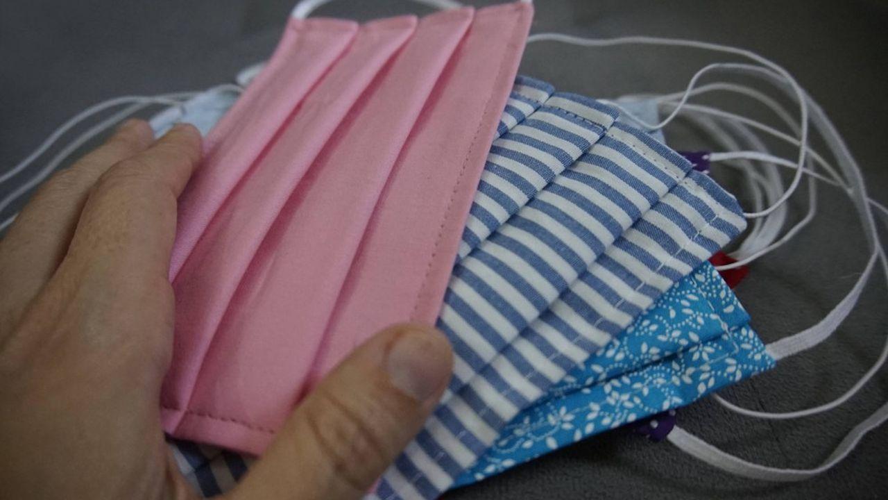 Ces masques seront réalisés en coton et polyester.