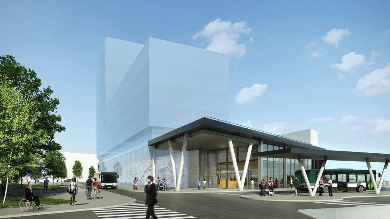 La future gare de Bry-Villiers-Champigny sera accessible par le projet de transport de bus Altival