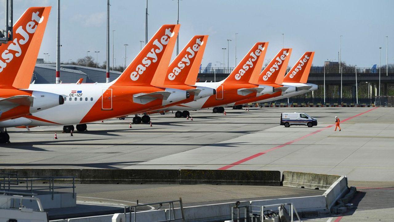 En France, easyJet a immobilisé 39 appareils et mis au chômage partiel 1.700 salariés