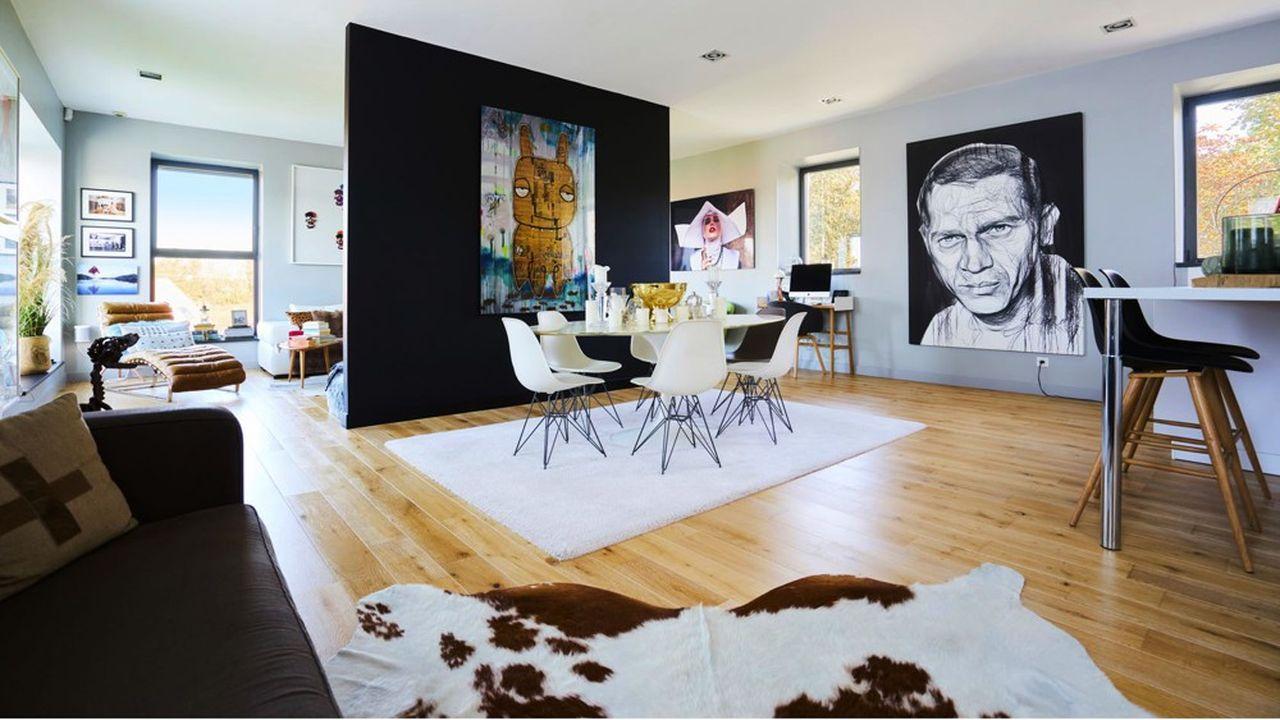 Ce loft aux allures de maison est situé dans la proche banlieue de Lille à Avelin (59710).