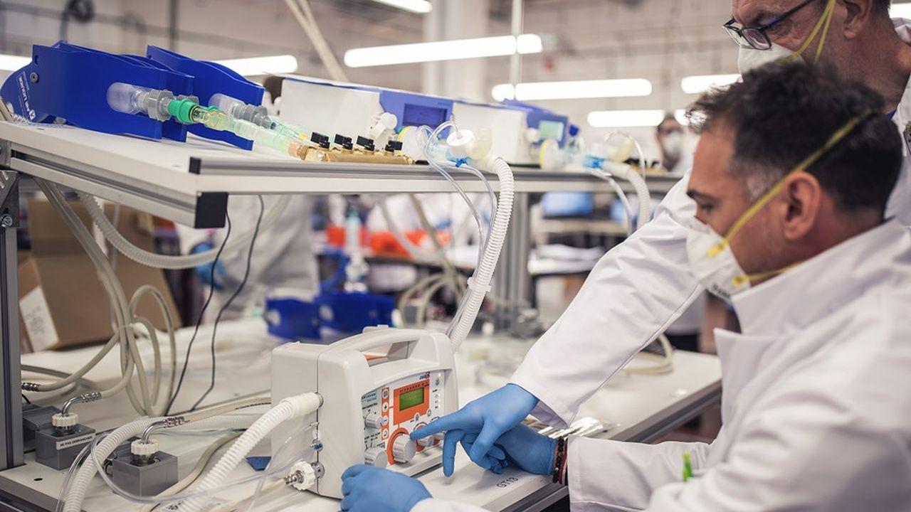 L'usine de respirateurs d'Antony s'est équipée d'une toute nouvelle unité d'assemblage pour fournir au plus vite