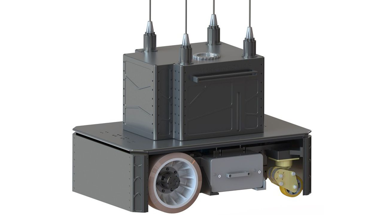 Ce robot décontaminateur mobile est doté d'une option d'assainissement de l'air par ultraviolets.