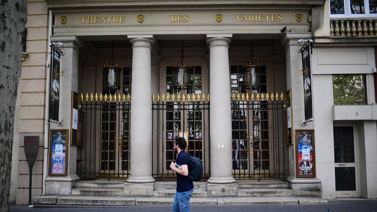 Le Théâtre des Variétés, comme dans les autres salles des théâtres privés à Paris, n'enregistre plus aucun achat de billet