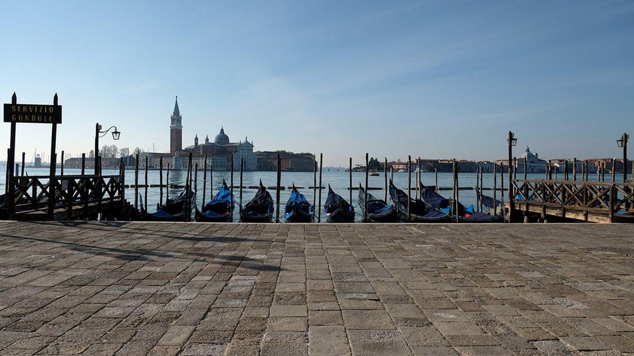 Venise déserte pendant le confinement décrété pour endiguer la diffusion du Coronavirus