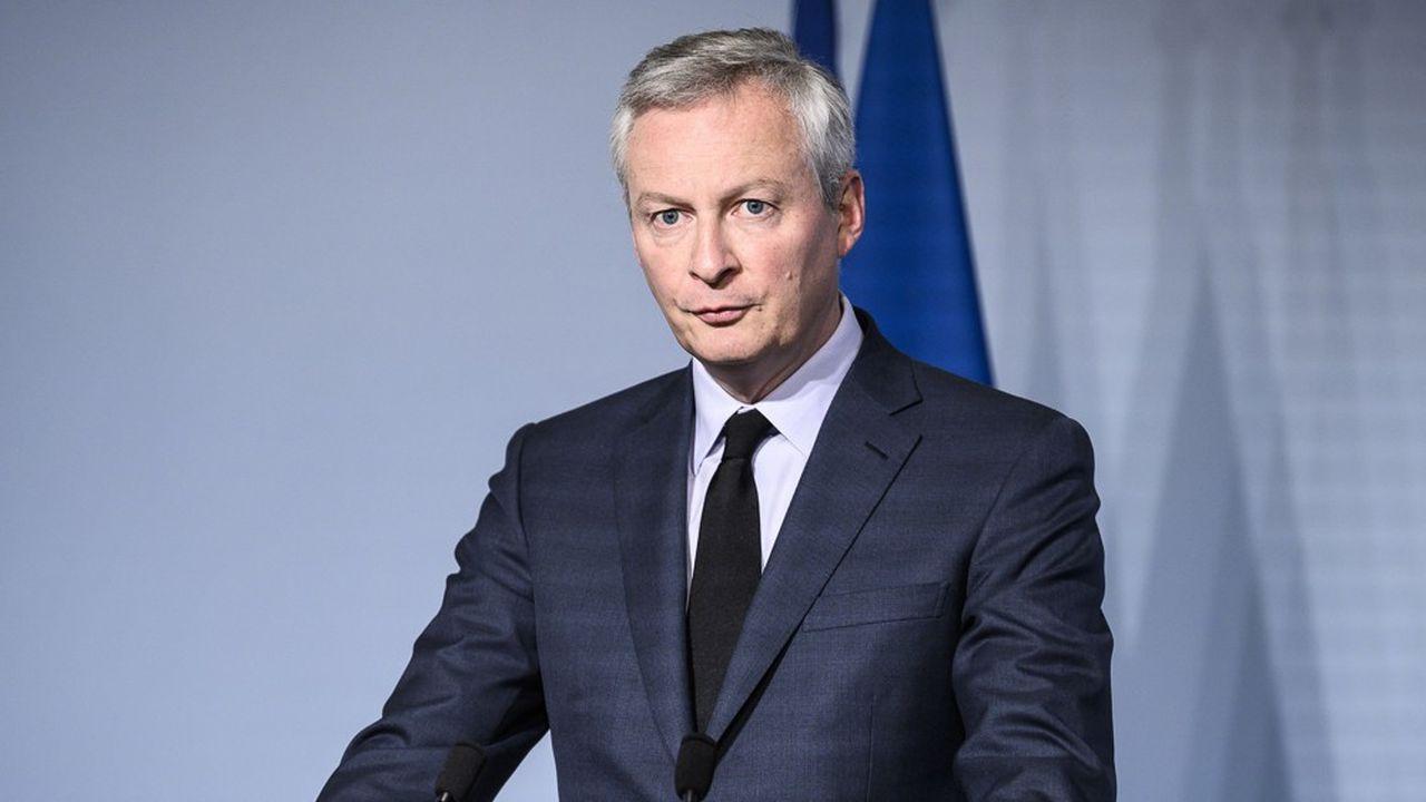 Bruno Le Maire, le ministre de l'Economie, lors d'une conférence de presse le 15 avril au palais de l'Elysée.