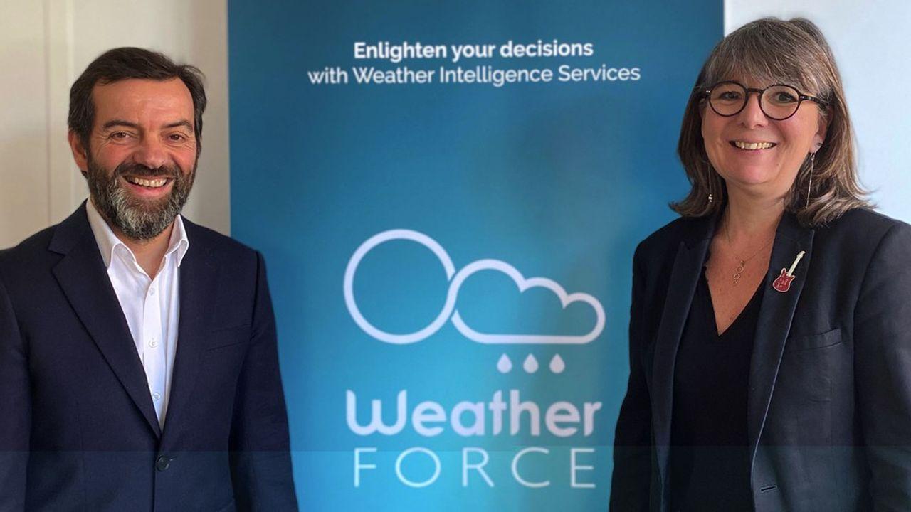 Christine David, présidente, et Pascal Venzac, directeur général, les deux cofondateurs de WeatherForce.