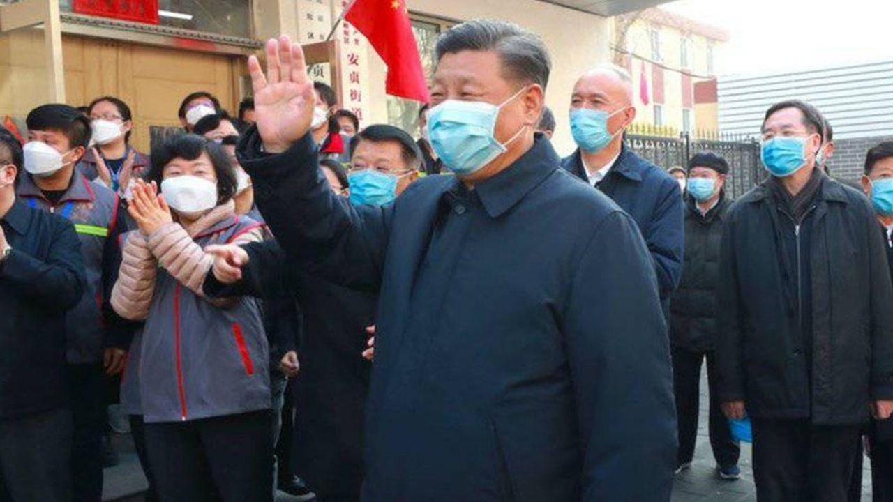 Xi Jinping en visite à Wuhan, le 10mars 2020.