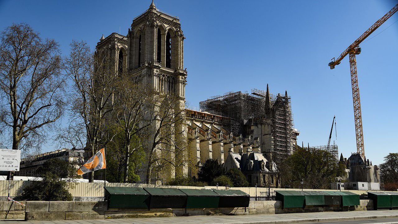 Le chantier de Notre-Dame avait été interrompu à la mi-mars à cause de la pandémie de coronavirus.