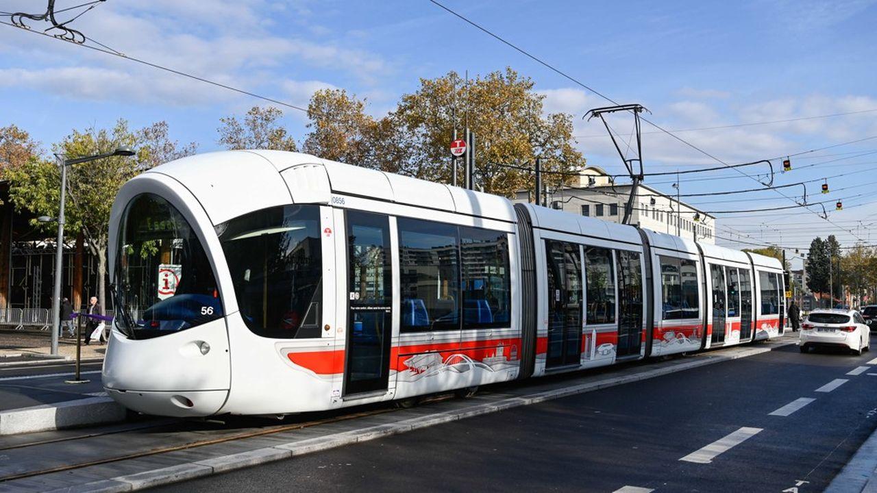 Une rame de tramway à Lyon. En France, Keolis est présent dans quelque 80 agglomérations.