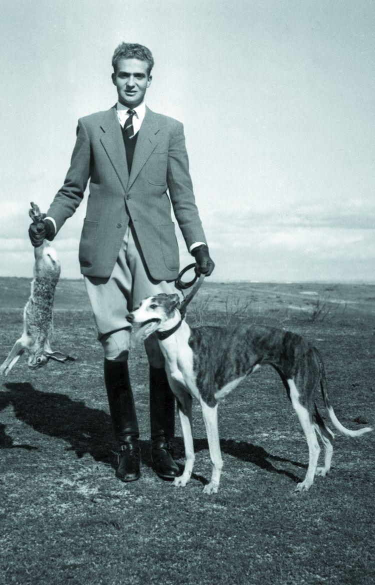 Juan Carlos à la chasse dans les années 1950.