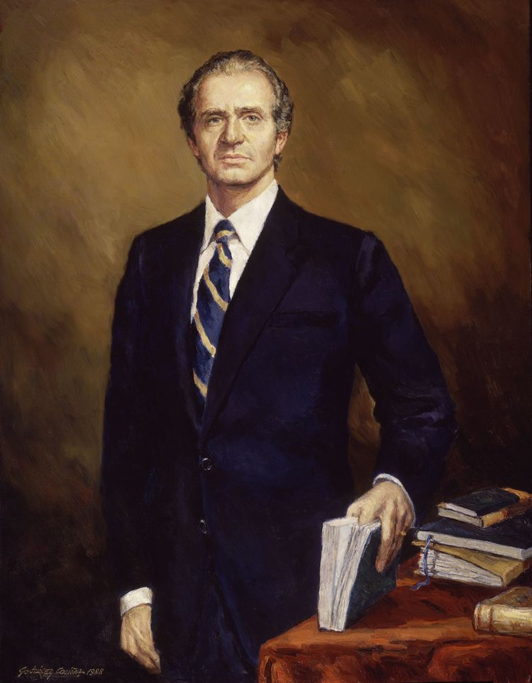 Juan Carlos (portrait peint en 1988).