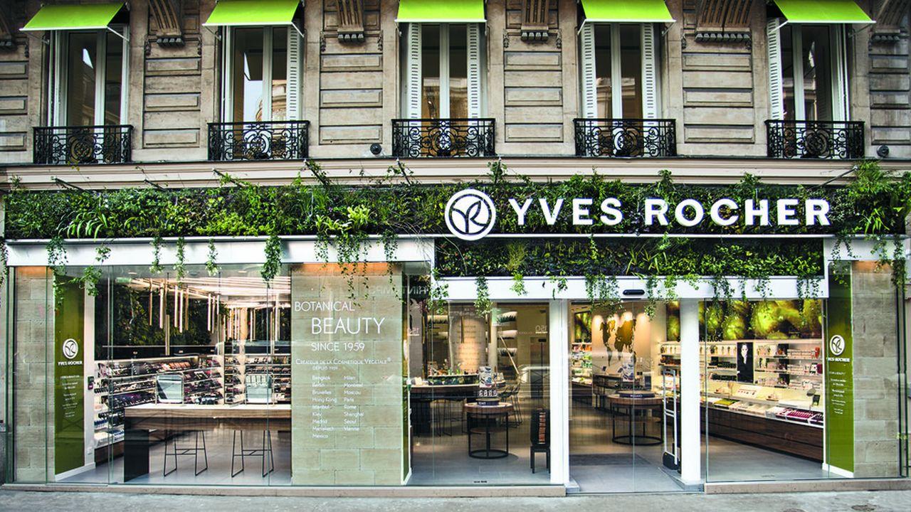 Les 686magasins Yves Rocher (ici boulevard Haussmann, à Paris) assurent 80% du chiffre d'affaires de la marque