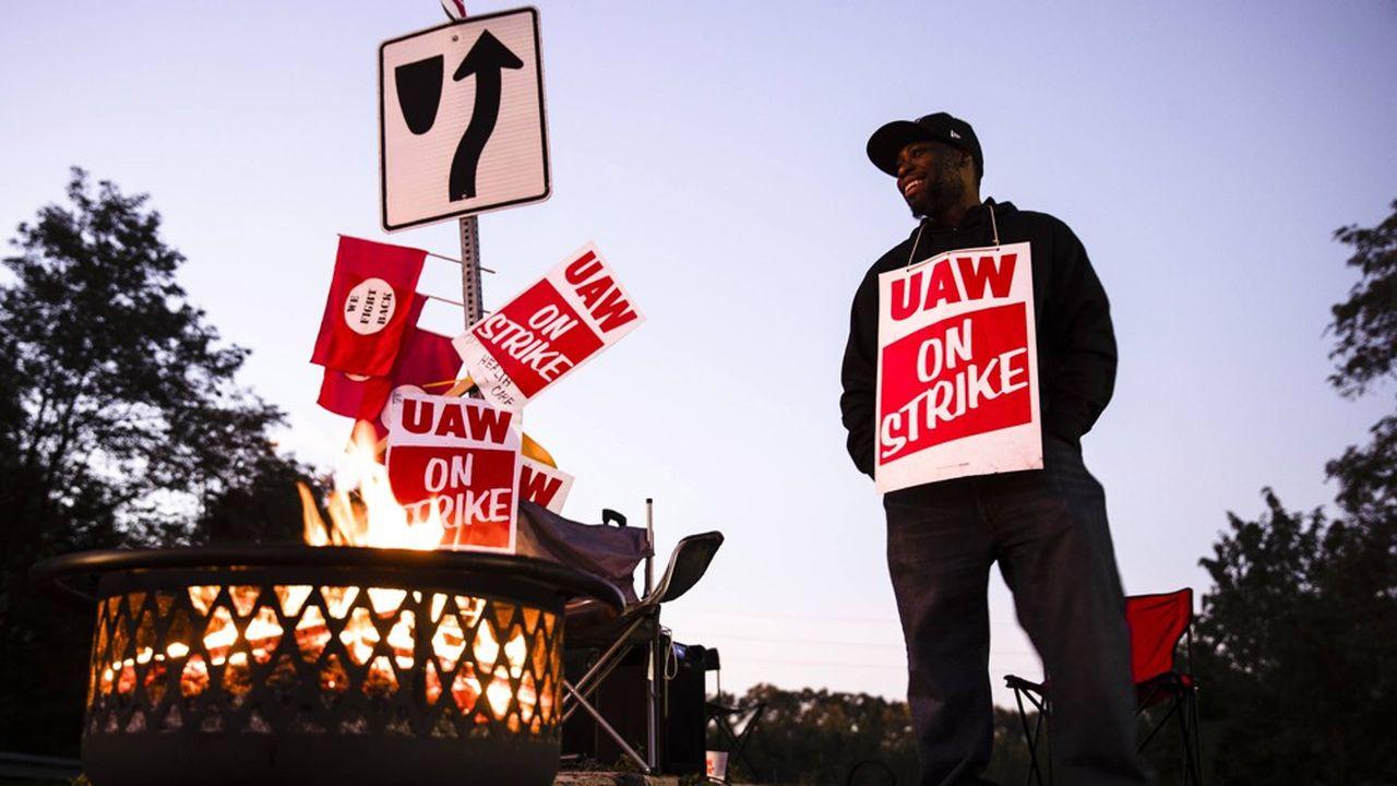 Mouvement syndical chez General Motors.
