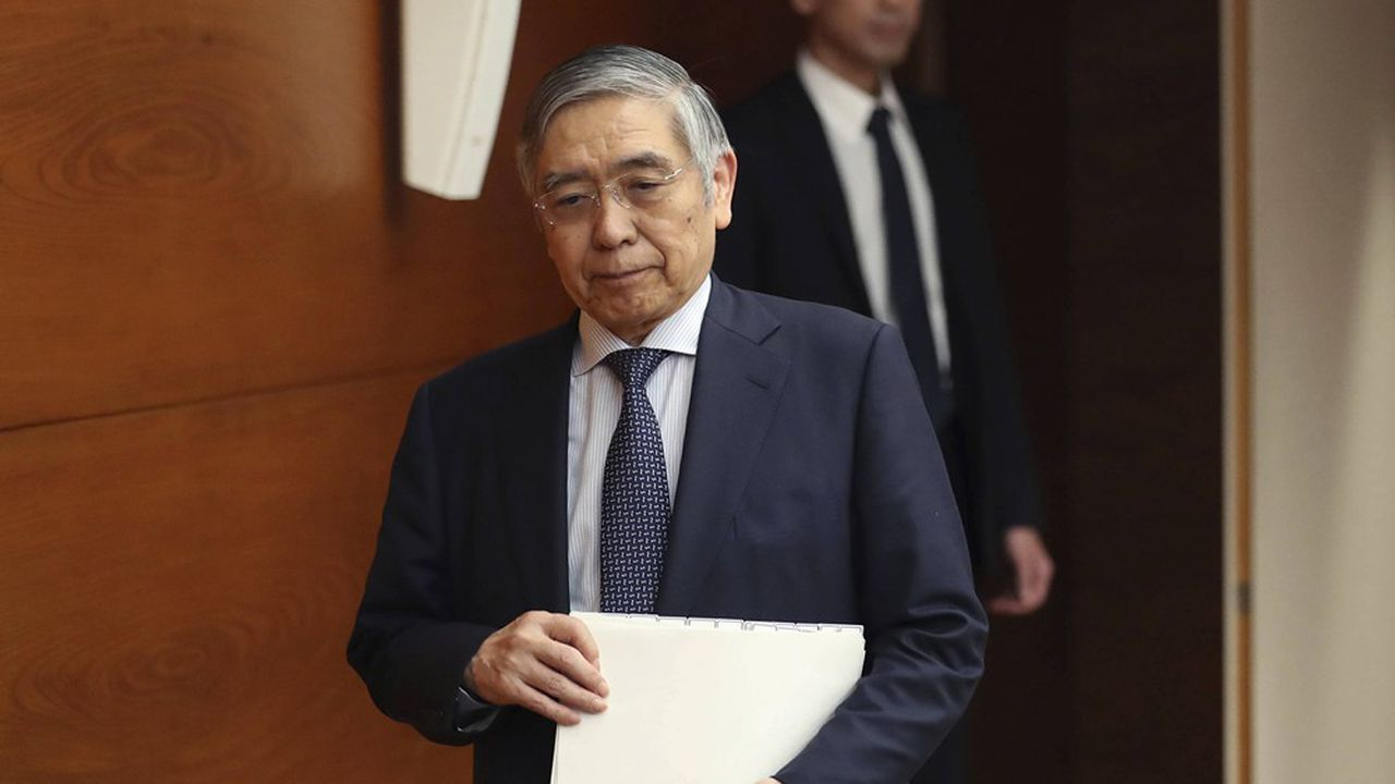 Le gouverneur de la Banque du Japon, Haruhiko Kuroda.