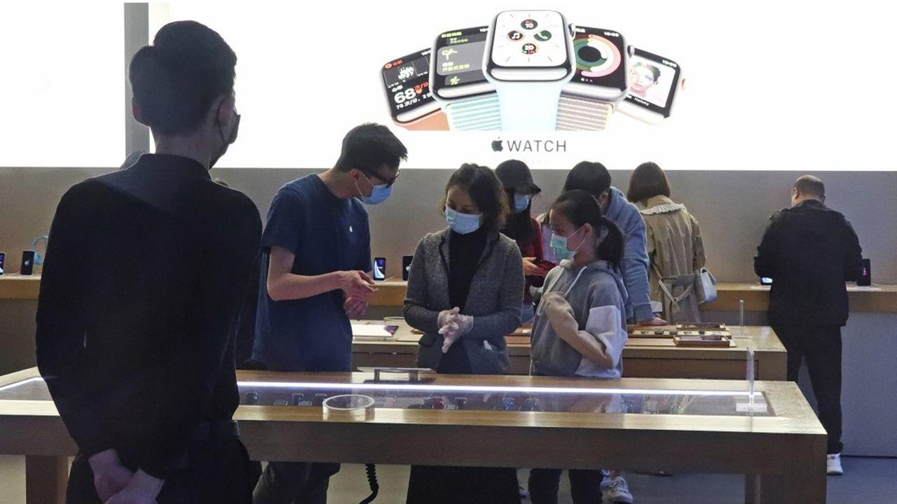 Au plus fort de la crise, Apple avait dû fermer l'intégralité de ses 42 boutiques en Chine.