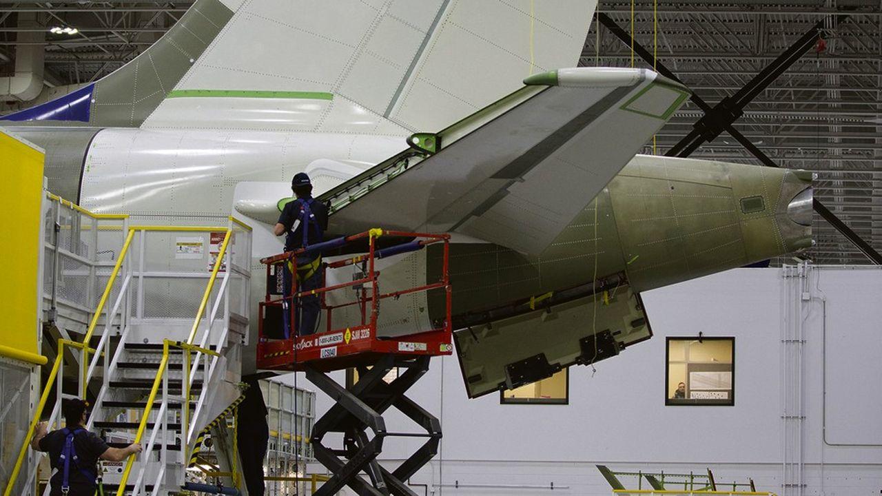 L'usine Airbus de Mirabel près de Québec (Canada).