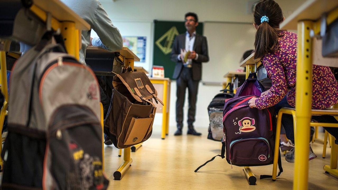 Les effectifs du ministère de l'Education nationale ont baissé en 2019 pour la première fois depuis 2012, avec 3.816 postes en moins.