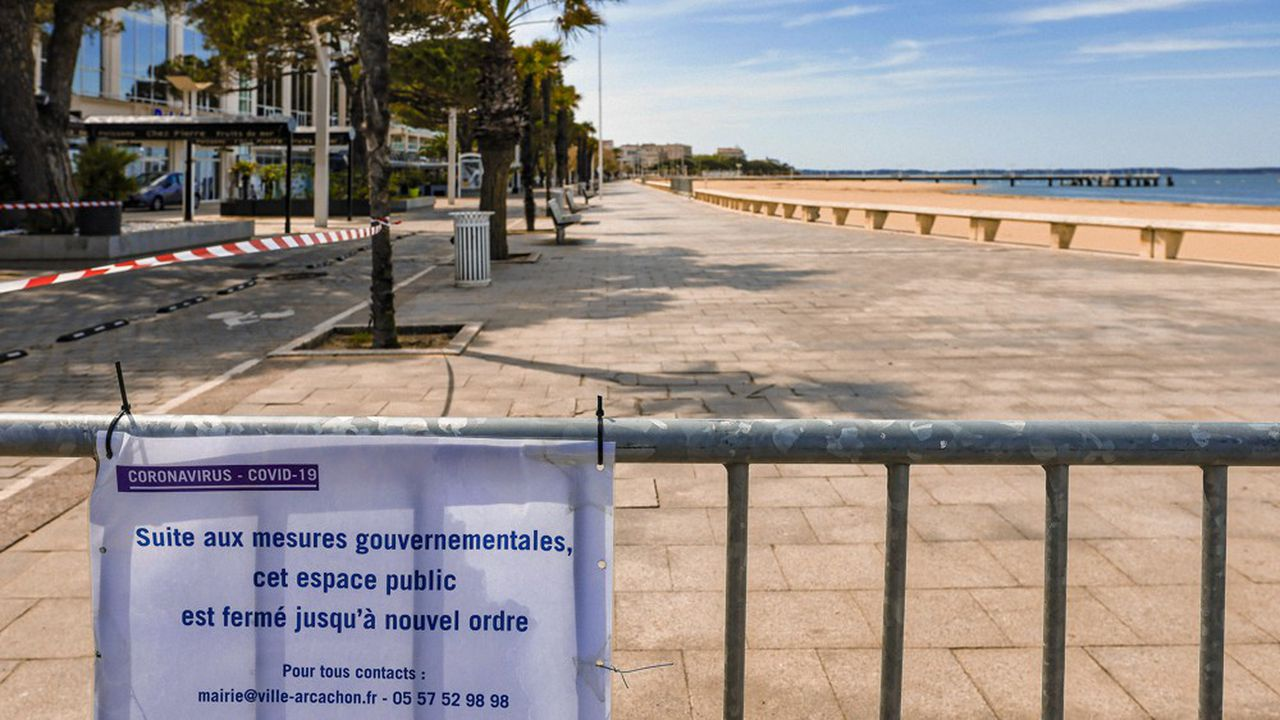 Les plages françaises vont rester fermées au public au moins jusqu'au 1erjuin. Ici à Arcachon.