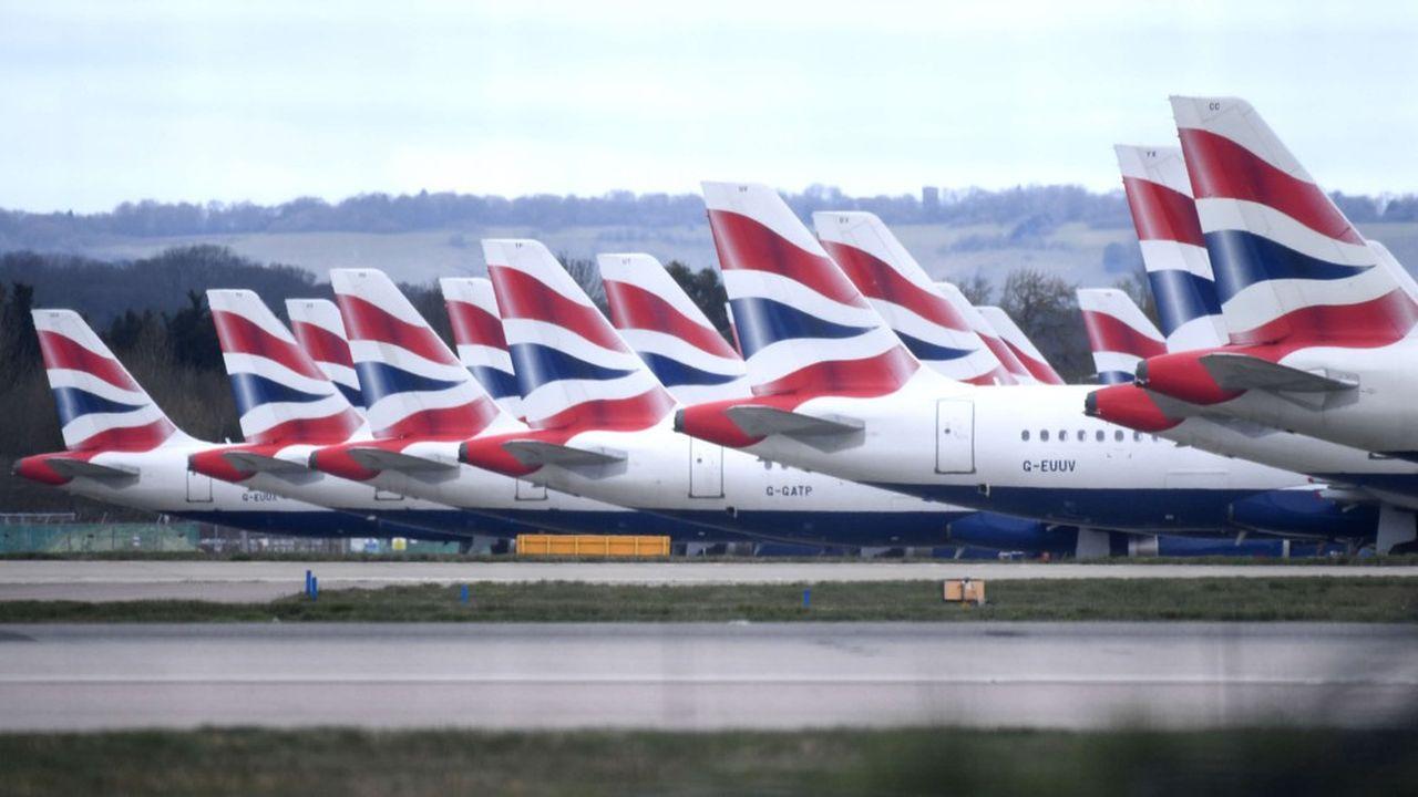 La majorité des avions de British Airways sont cloués au sol depuis un mois.